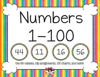 Print Numbers to 100 Rainbow