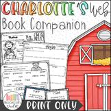Print Only Charlotte's Web Novel Study