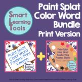 Print Paint Splat Color Word Bundle