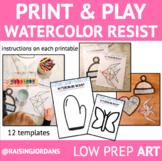 Print & Play Art: Watercolor Resist