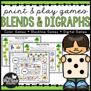 Print & Play Blends and Digraphs Games