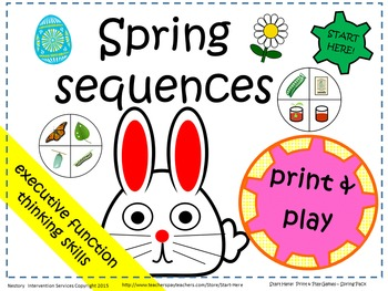 Print & Play Games - Spring Sequence - Five Executive Function Games.