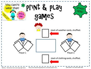 "Evaluation and Reasoning Skills GAME - ""You can('t) wear that!"""