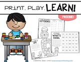 Print, Play, LEARN! Math Games Freebie!