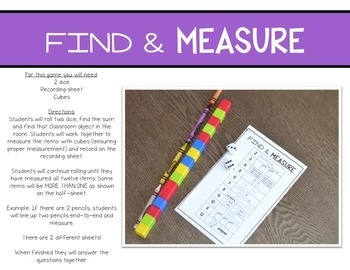 Print, Play, LEARN! Measurement Games