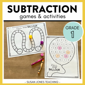 Print, Play, LEARN! Subtraction Games