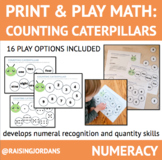 Print & Play Math: Counting Caterpillars Number Matching A