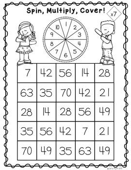 Print & Play Multiplication Games
