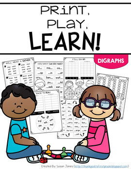 Print & Play Phonics Games - Digraphs