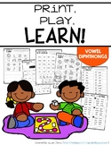 Print & Play Phonics Games - Diphthongs
