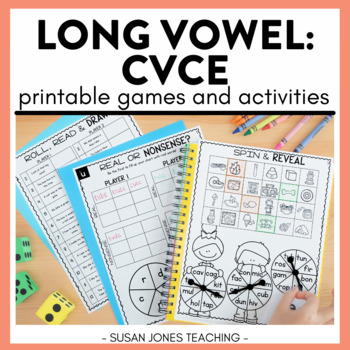 Print & Play Phonics Games - Long Vowels CVCe
