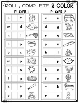 Print & Play Phonics Games - Short Vowels CVC