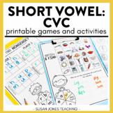 Short Vowel Games (CVC): Print, Play, LEARN!
