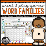 Print & Play Word Family Games