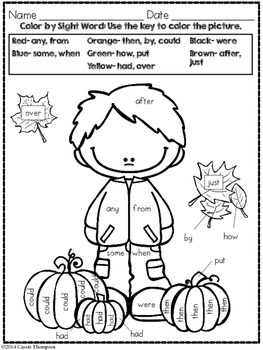 Print & Practice: Fall Math & Literacy