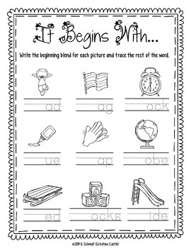 L Blends Printables