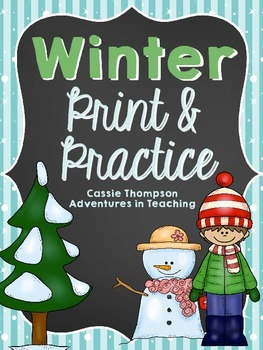 Print & Practice: Winter Math & Literacy