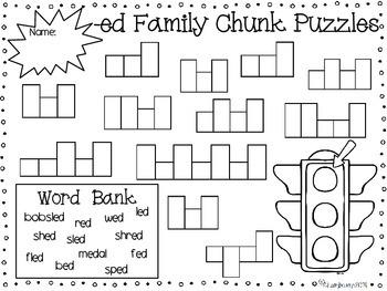 Spelling Print & Practice -ed Family Chunk Mini Pack