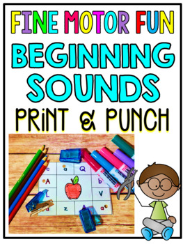 Print & Punch Beginning Sounds Cards
