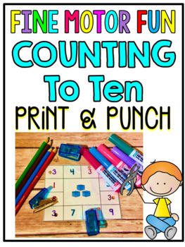 Print & Punch Counting To 10 Cards