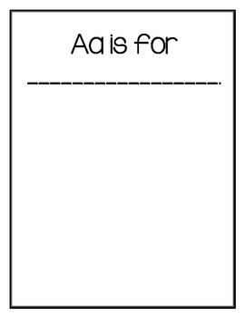 Print Ready Alphabet Book (Writing and Publishing)