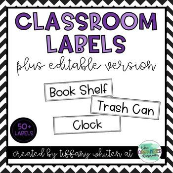 Print-Rich Classroom Labels
