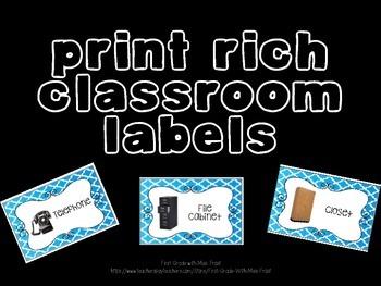 Print Rich Classroom Labels