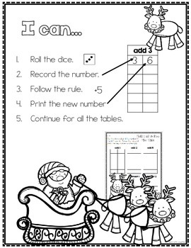 Print, Roll and Play Dice Activities (Christmas Edition)