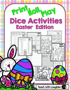 Print, Roll and Play Dice Activities (Easter Edition)