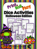 Print, Roll and Play Dice Activities (Halloween Edition)