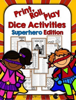 Print, Roll and Play Dice Activities (Superhero Edition)