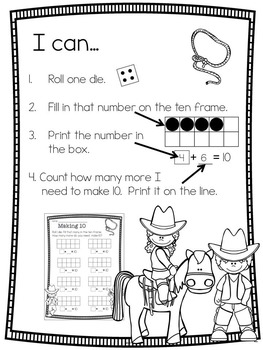 Print, Roll and Play Dice Activities (Wild West Edition)