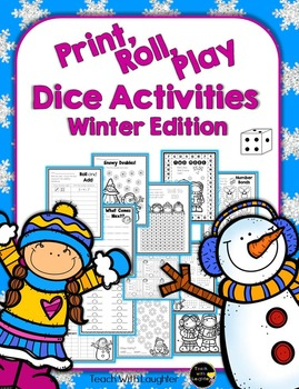 Print, Roll and Play Dice Activities (Winter Edition)