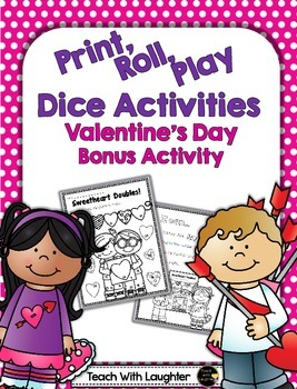 Print, Roll and Play Dice Activity - Valentine's Day FREEBIE