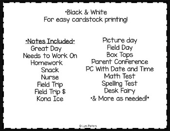 Print and Send Parent Notes