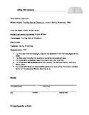 Print Sources Citations Worksheet