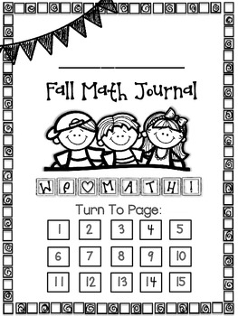 Print, Staple, And Use Math Journal - Fall Edition