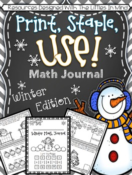 Print, Staple, And Use Math Journal - Winter Edition