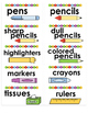 Print & Stick Classroom Supply Labels