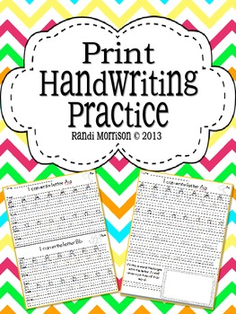 Print Style Handwriting Practice Book