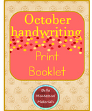 Print  Writing - October Words  Booklet