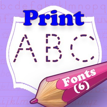 Print Writing family font dotted