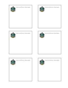 Print Your Own Post-It's - Harry Potter House Crests