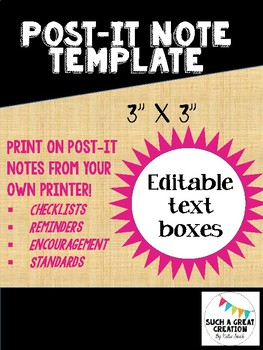 Print Your Own Post-it Notes