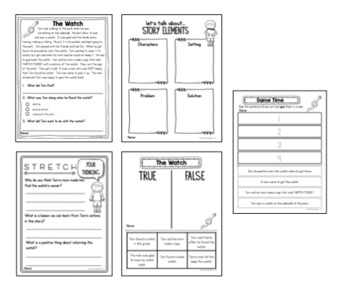 1st, 2nd, 3rd Grade Reading Comprehension Passages and Questions | Weekly Packet