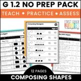 2D and 3D Shapes | G 1.2 | No Prep Tasks | Assessment | Worksheets