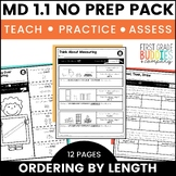 Print a Standard MD 1.1 {Order 3 Objects By Length} Activities + Assessments