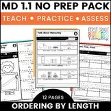 Measurement Comparison | MD 1.1 | No Prep Tasks | Assessment | Worksheets