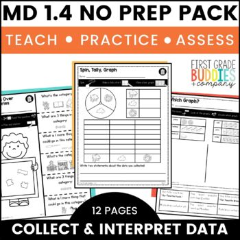 Graphing | MD 1.4 | No Prep Tasks | Assessment | Worksheets