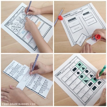 Print a Standard OA 1.2 {Addition of 3 Numbers} No Prep Activities + Assessments